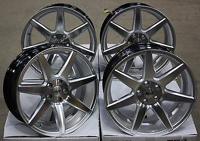 """18"""" Cruize Z1 Alloy Wheels Silver Polished Concave 5X100 18 Inch Alloys"""