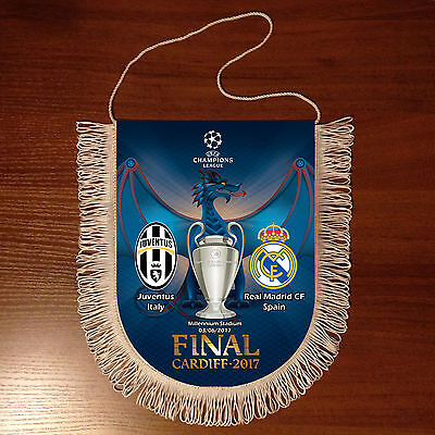 Football Pennant FINAL Champions League 16/17 Juventus Italy - Real Madrid Spain