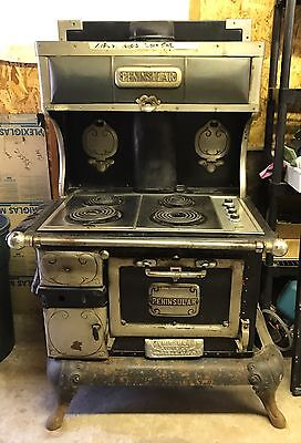 Antique STOVE Peninsular Stove Co Detroit Chicago Buffalo - MODIFIED TO ELECTRIC