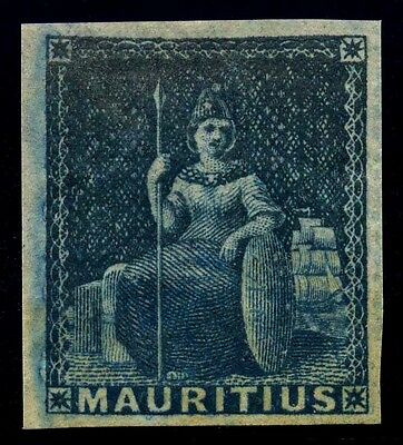 Mauritius. 1858. Blue. SC# 8. SG 31. Not Issued. MH