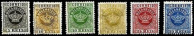 Mozambique. 1877~1885. 5r~50r. SC# 1, 2, 3, 4, 6, 11. MLH~NG. 6 Piece