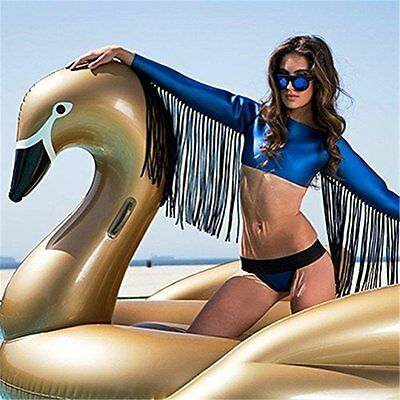 Giant Inflatable Gold Swan Pool Float. Gold Swimming pool Swan Lilo 190cm x190cm