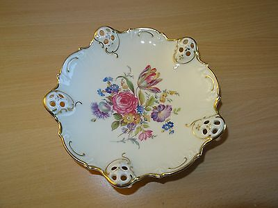 Vintage Rosenthal Florida 45 Reticulated Dish from Kronach Factory Pre 1933
