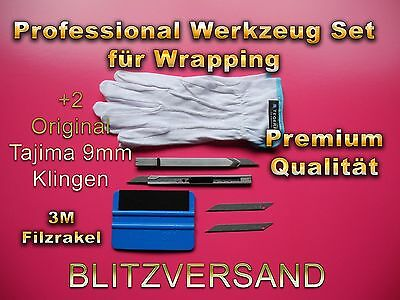 30° Grad Cuttermesser Japan!, 3M Rakel 2mm dicken Filzkante!! BESTE SET!! TOP!!!