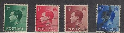 Great Britain 230 - 233 -  King Edward VIII. Used Set Of 4  #02 GB230