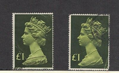 Great Britain MH169 - Queen Elizabeth II.  Used Singles x 2  #02 GBMH169