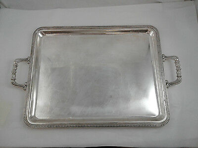 "Tray with handles 18.25 x 14.5"" - Sterling Silver 925 - 1958 gr. - Made in Italy"