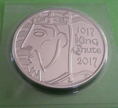 2017 UK ROYAL MINT FIVE POUND COIN £5 - 1000th Anniversary of King Canute BUNC
