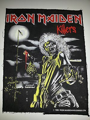Iron Maiden Rare 1981 Killers Back Patch Official