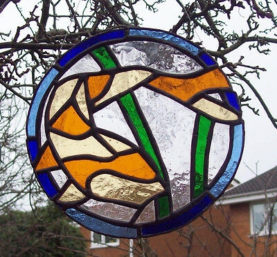 Koi Fish Stained Glass hanger, for wall, window or suncatcher