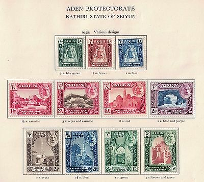 Aden State Seiyun 1942 S.G. 1 to 11  Complete Set Cat £60 Hinged Mint