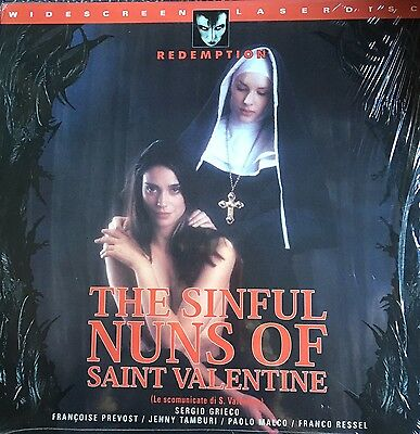THE SINFUL NUNS OF SAINT VALENTINE UNRATED Widescreen LaserDisc US/1998
