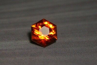 1.6ct Madeira Citrine - Flawless Hexagonal Custom Cut Gem