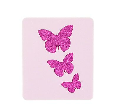 3 Butterflies Face Painting Stencil 6cm x 7cm 190micron Washable Reusable Mylar