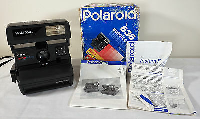 Vintage Polaroid 636 Close Up Instant Camera 600 Film