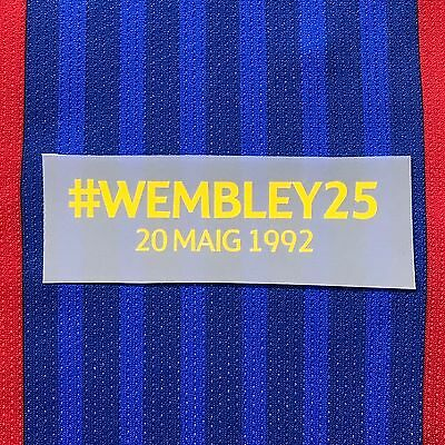 WEMBLEY 25 Anniversary MDT Transfer Patch for Fc Barcelona Home Shirt Jersey