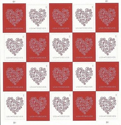 Usps Forever Hearts Stamps 20x100 sheets, total 2000