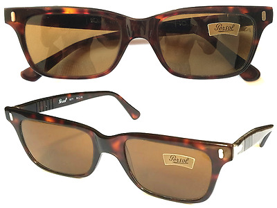 Persol Ratti 9271 VINTAGE 1980s Sunglasses Tortoise Shell NEW Etched Lenses