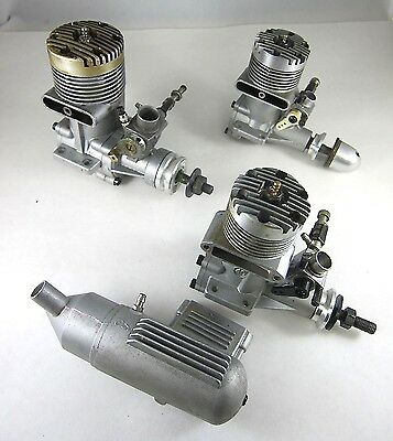 Vintage OS Max-H 60, OS Max 40FP, OS Max-S 30 R/C Model Airplane Engines 3 Total