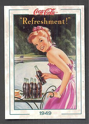 Year 1949: Young Lady Preparing to Entertain, 1994 Coca-Cola Series 2 Card #103