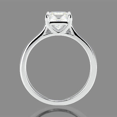 1/2 Ct Solitaire Princess Diamond Engagement Ring Enhanced D/SI1 14K White Gold
