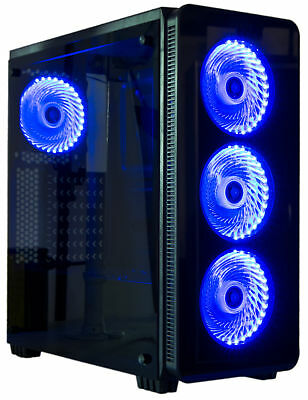 VIVO ATX Mid Tower Computer Gaming PC Case 6 Fan Ports, 3-speed control, USB 3.0