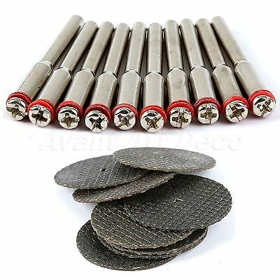 32mm Resin Fiber Cutting Wheel Sanding Discs & Mandrel For Dremel Rotary tool