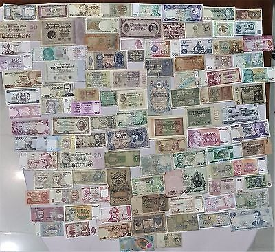 World Banknote collection. 100 Mixed. Many Old.All my collections Different #13