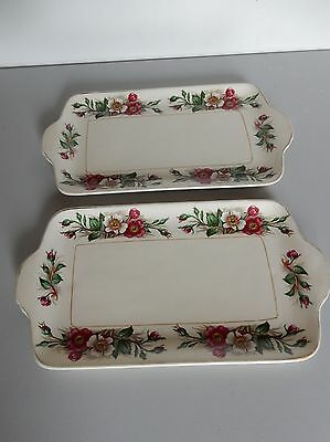 John Maddock Ivory Ware Serving Dish (pair) approx 24cm long, nice condition,