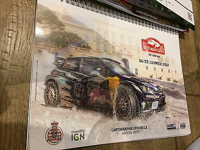 RALLYE MONTE CARLO 2017- OFFICIAL MAPS- CARTOGRAPHIE OFFICIELLE- 85e