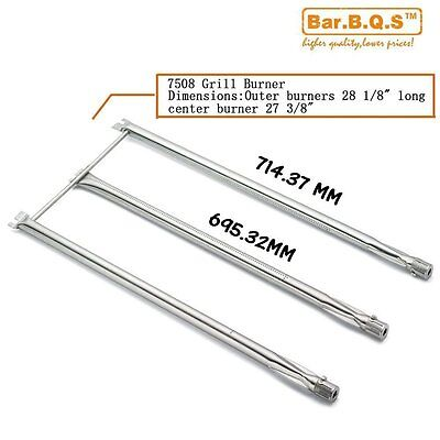714.37mm 7508 Stainless Steel 3 Burner Tube Set Replacement for Genesis Silver B
