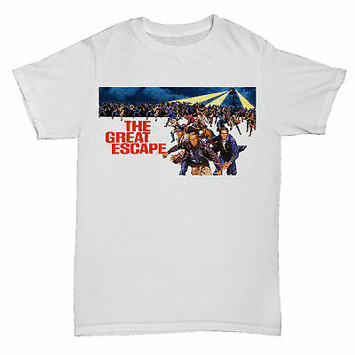 THE GREAT ESCAPE MCQUEEN 70S 80S 90S COMEDY FILM MOVIE CULT CLASSIC T Shirt