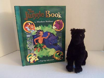 "Disney Jungle Book 7"" Black Soft Plush BAGHEERA Panther - HTF"