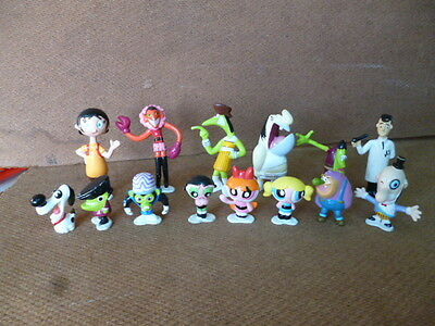 vintage Powerpuff Girls lot of 14 figures Promo EGG Argentina