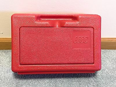 """Small Red Vintage Lego Storage Carrying Case in VGUC 11.5 x 7.5 x 3.5"""" 1980s USA"""