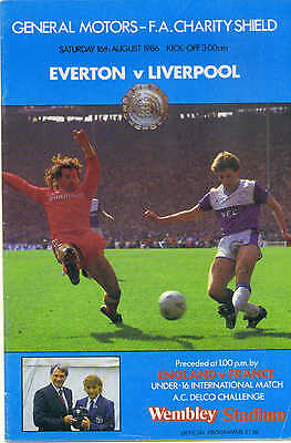Liverpool Vs Everton 1986 Charity Shield Official Football Programme