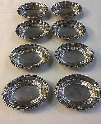 Antique Set of 8 European .800 SILVER Footed Nut Dishes - Finger Bowls