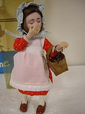 "Norman Rockwell Character Doll, 10"" Inch Tall ""Anne""Handcrafted German Porcelain"