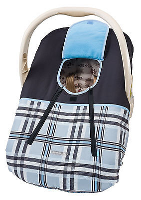 Cozy Cover Car Seat Cover Infant / Toddler Blue Plaid or Safari Jungle BRAND NEW