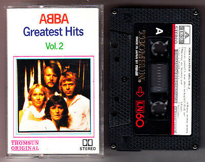 ABBA - Greatest Hits Vol. 2 Rare Cassette Thomsun Original