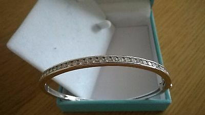 Diamonique  Silver Bangle