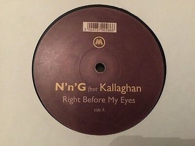 """LISTEN - N n G -  RIGHT BEFORE MY EYES - CLASSIC UK GARAGE RECORD-12"""""""