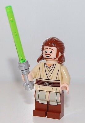 NEW Genuine Lego Qui-Gon Jinn minifig minifigure from 75169 Star Wars Naboo Duel