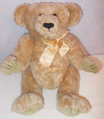 """KEEL TOYS JOINTED golden  teddy Plush simply soft collection soft Toy 18"""""""