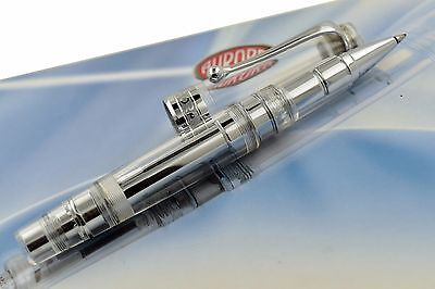 NEW Aurora Optima Limited Edition Clear Chrome Trim Demonstrator Rollerball Pen
