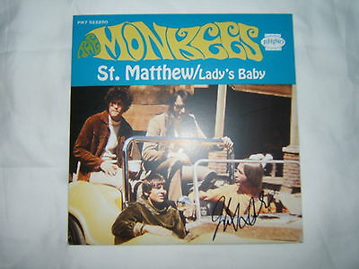 The Monkees St Matthew / Lady's Baby 45rpm MINT PPR7 522250 SIGNED Micky Dolenz