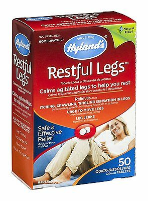 Pack of 2 x Hylands Homeopathic Restful Legs - 50 Tablets