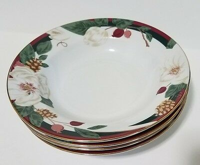 Four Tienshan Fine China Magnolia Made in China Soup Cereal Bowls 8 Inch SORM1