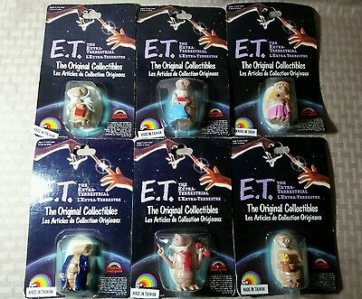 Vintage 1982 LJN E.T. The Extra Terrestrial 2 Inch Figurine Lot Grand Toys