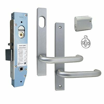 Kaba Narrow Door Classroom Lock Kit with Mortice, Cylinder, Plate and Handles